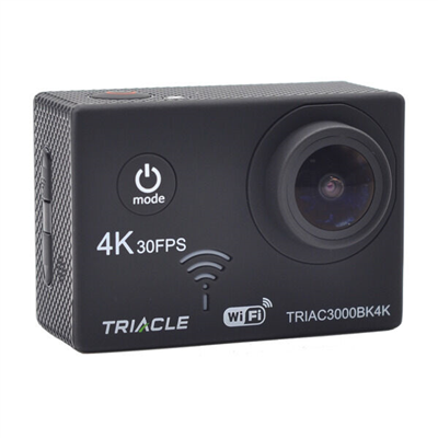 - TRIACLE ACTIONKAMERA 4K, SORT -